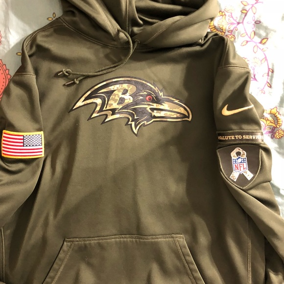 reputable site 8a105 03ae5 Nike Men's Salute To Service USA ravens nfl hoodie